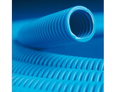 ДКС Труба ППЛ гибкая гофр. д.40мм, лёгкая с протяжкой, 20м, цвет синий